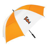 62 Inch Orange/White Umbrella-F