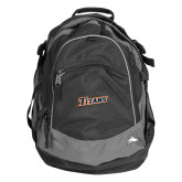 High Sierra Black Fat Boy Day Pack-Primary Logo