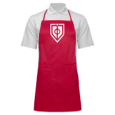 Full Length Red Apron-Shield