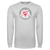 White Long Sleeve T Shirt-University Seal