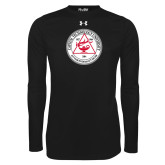 Under Armour Black Long Sleeve Tech Tee-University Seal