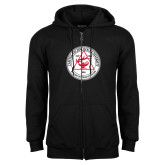 Black Fleece Full Zip Hoodie-University Seal