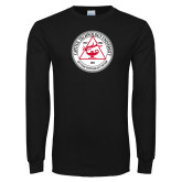 Black Long Sleeve T Shirt-University Seal