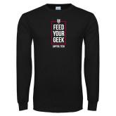 Black Long Sleeve T Shirt-Feed Your Geek