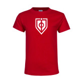 Youth Red T Shirt-Shield