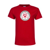 Youth Red T Shirt-University Seal