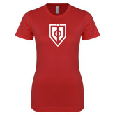 Next Level Ladies SoftStyle Junior Fitted Red Tee-Shield