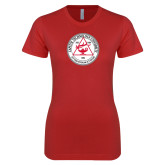 Next Level Ladies SoftStyle Junior Fitted Red Tee-University Seal