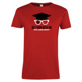 Ladies Red T Shirt-Get Your Geek On