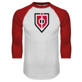 White/Red Raglan Baseball T Shirt-Shield