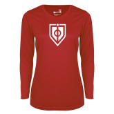 Ladies Syntrel Performance Red Longsleeve Shirt-Shield