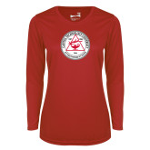 Ladies Syntrel Performance Red Longsleeve Shirt-University Seal