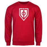 Red Fleece Crew-Shield