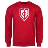 Red Fleece Crew-Shield