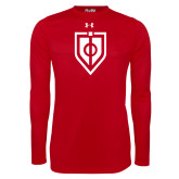 Under Armour Red Long Sleeve Tech Tee-Shield