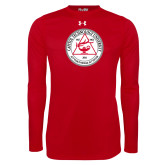Under Armour Red Long Sleeve Tech Tee-University Seal