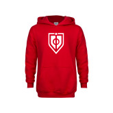 Youth Red Fleece Hoodie-Shield