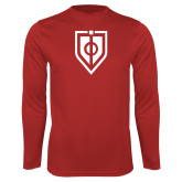 Syntrel Performance Red Longsleeve Shirt-Shield