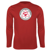 Syntrel Performance Red Longsleeve Shirt-University Seal