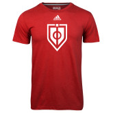 Adidas Climalite Red Ultimate Performance Tee-Shield
