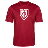 Performance Red Heather Contender Tee-Shield