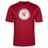 Performance Red Heather Contender Tee-University Seal