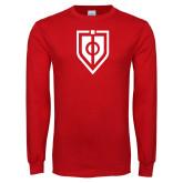 Red Long Sleeve T Shirt-Shield