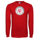Red Long Sleeve T Shirt-University Seal