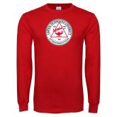 Red Long Sleeve T Shirt-University Seal