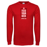 Red Long Sleeve T Shirt-Feed Your Geek
