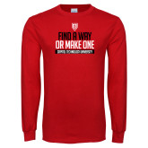 Red Long Sleeve T Shirt-Find A Way Or Make One