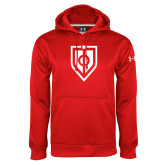 Under Armour Red Performance Sweats Team Hoodie-Shield