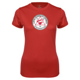 Ladies Syntrel Performance Red Tee-University Seal