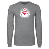 Grey Long Sleeve T Shirt-University Seal
