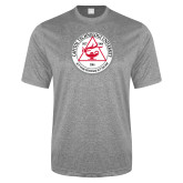 Performance Grey Heather Contender Tee-University Seal