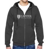 Charcoal Fleece Full Zip Hoodie-Primary Mark