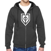 Charcoal Fleece Full Zip Hoodie-Shield