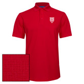 Red Dry Zone Grid Polo-Shield