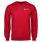 Red Fleece Crew-Primary Mark