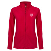 Ladies Fleece Full Zip Red Jacket-Shield