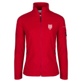 Columbia Ladies Full Zip Red Fleece Jacket-Shield