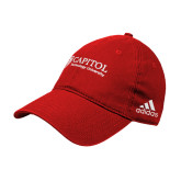 Adidas Red Slouch Unstructured Low Profile Hat-Primary Mark