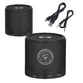 Wireless HD Bluetooth Black Round Speaker-University Seal  Engraved