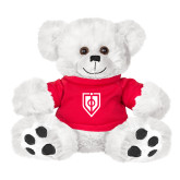 Plush Big Paw 8 1/2 inch White Bear w/Red Shirt-Shield