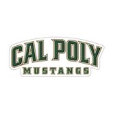 "Medium Decal-Calpoly Mustangs, 8"" long side"