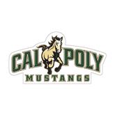 "Medium Decal-Calpoly Mustangs Primary Mark, 8"" long side"
