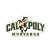 """Small Decal-Calpoly Mustangs Primary Mark, 6"""" long side"""