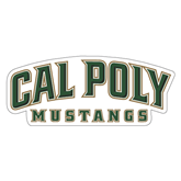 """Extra Large Decal-Calpoly Mustangs, 18"""" long side"""