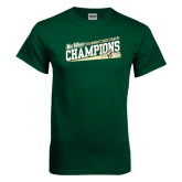 Big West Dark Green T Shirt-2015 Womens Cross Country - Cal Poly