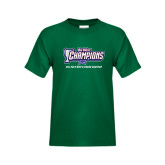 Big West Youth Dark Green T Shirt-Big West Champions 2016 Cal Poly Mens Cross Country